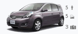 Alquiler auto Nissan Note
