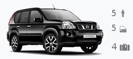 nissan X Trail 4WD for hire