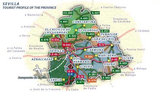 Seville province map